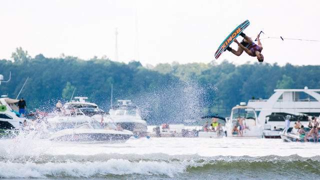 Supra Team rider Nic Rapa (Credit: Supra Boats Pro Wakeboard Tournament)