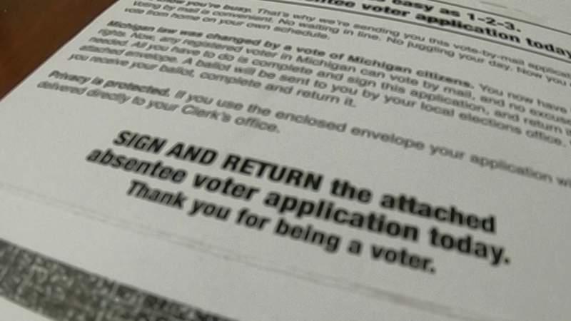 Absentee ballot application issue