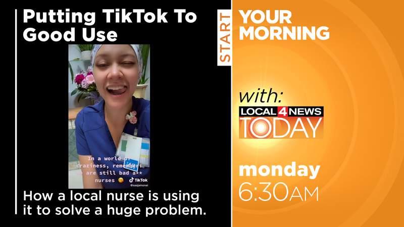 Nurse puts Tik Tok to good use