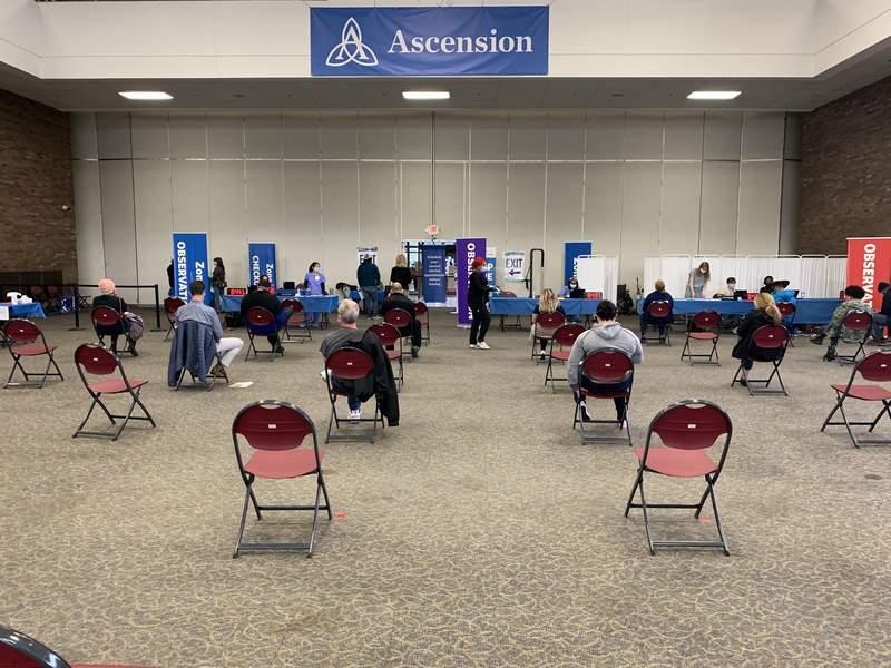 Ascension Southfield COVID-19 vaccine clinics.