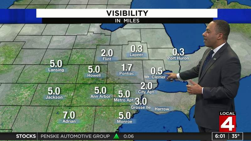Metro Detroit weather: Chilly Saturday with fog, rain and snow