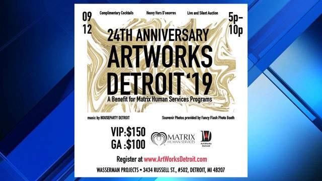 Artworks Detroit 2019 event flyer (WDIV)