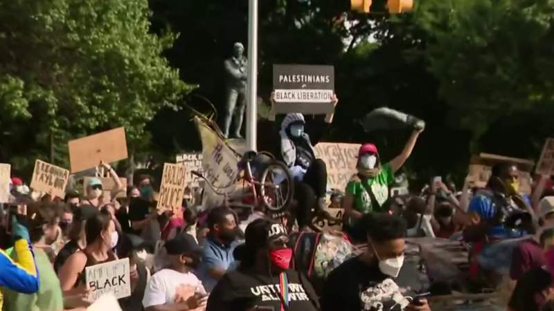 Tenth day of protests in Downtown Detroit