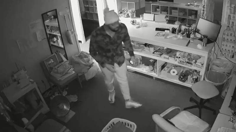 A man suspected of breaking into a Clinton Township dry cleaner.