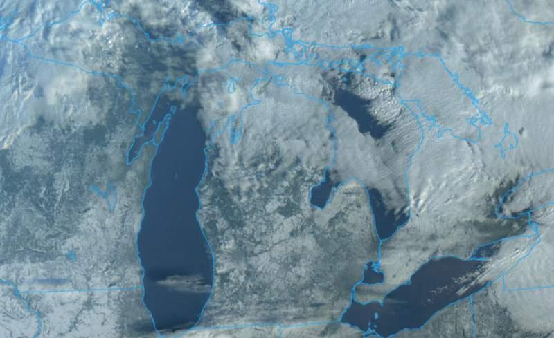 Michigan satellite image on Jan. 21, 2021