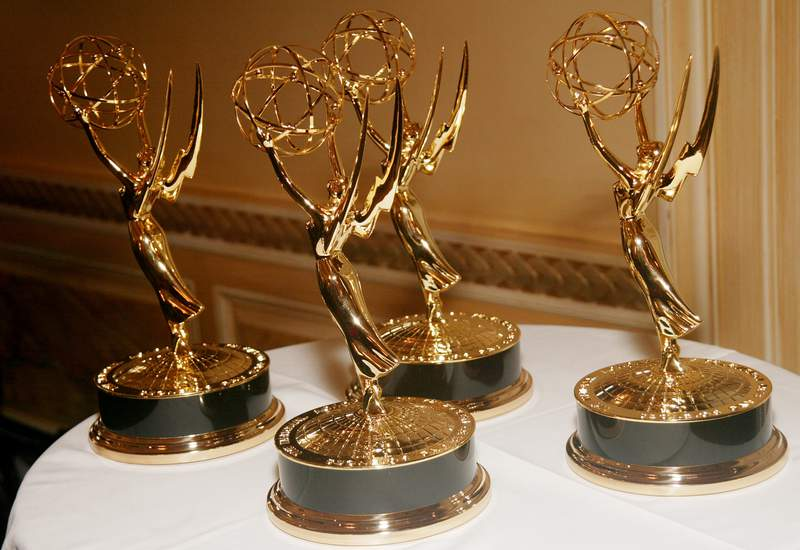 A bunch of Emmy Awards. (Photo by Evan Agostini/Getty Images)
