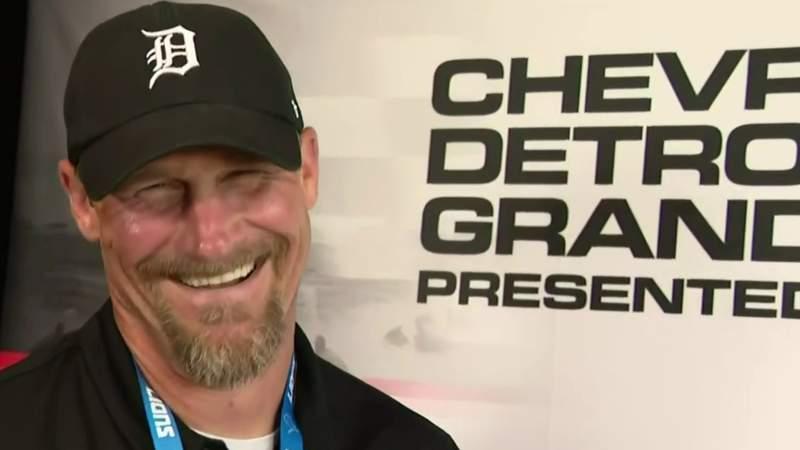 Detroit Lions head coach Dan Campbell serves as Grand Prix Grand Marshal
