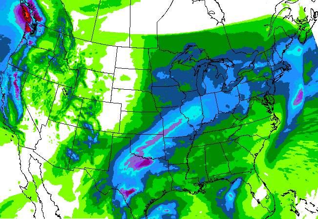 NWS Precipitation map.