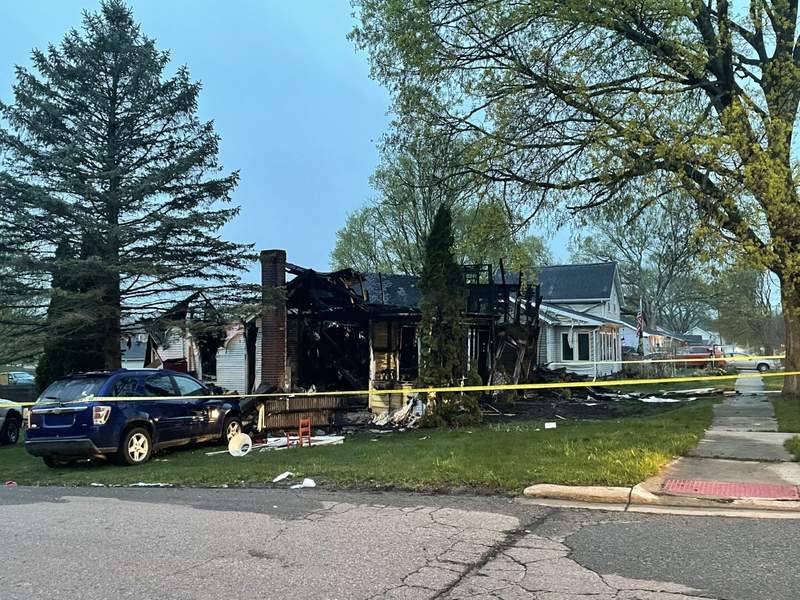 Marshall house fire, explosions send 8 to the hospital (WOOD TV)