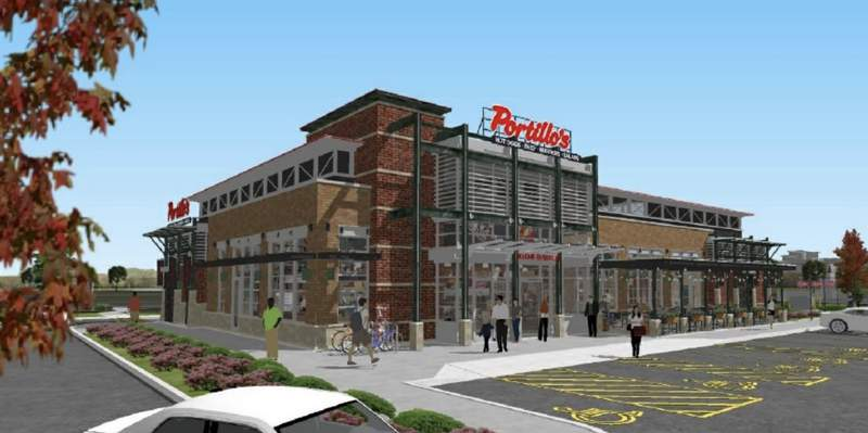 Rendering of Portillo's in Sterling Heights.
