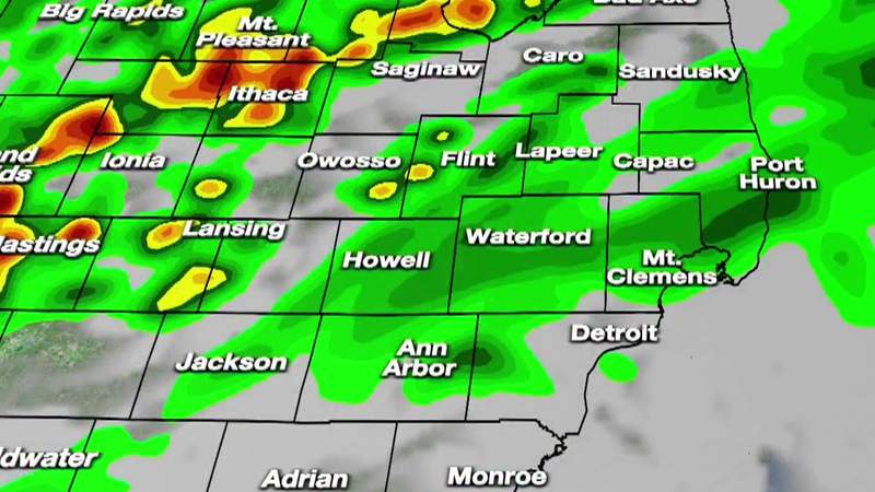 Metro Detroit weather forecast for May 25, 2021 -- 7 a.m. Update