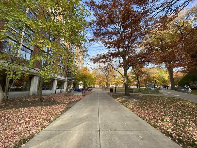 University of Michigan's central campus in Ann Arbor on Nov. 3, 2020.