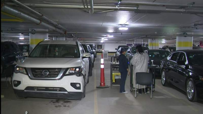 COVID-19 vaccine clinic at TCF Center in Detroit