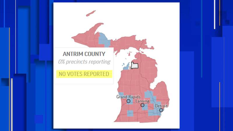 Antrim County 2020 General Election results as of 8 a.m. Thursday, Nov. 5.