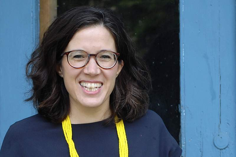 This May 2020 photo provided by Sarah Jessop shows Natalia Linos, a Democrat candidate for the Massachusetts 4th Congressional District in the Sept. 1 primary election. Linos, a social epidemiologist and executive director of the FXB Center for Health and Human Rights at Harvard University, is one of many in a crowded field seeking to replace U.S. Rep. Joe Kennedy III, who is running for Senate. (Sarah Jessop via AP)