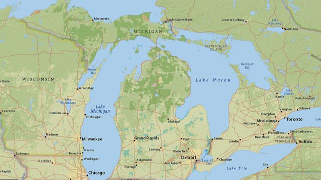 Map shows Michigan forest roads authorized for off-road ...