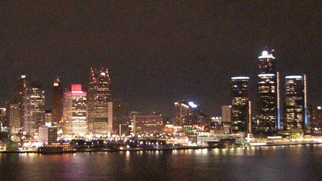 View of Detroit from the Windsor sky camera on Feb. 25, 2019 at 7:48 p.m. (WDIV)
