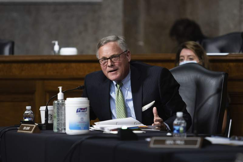 Sen. Richard Burr, R-N.C., speaks during a Senate Senate Health, Education, Labor, and Pensions Committee Hearing on the federal government response to COVID-19 on Capitol Hill Wednesday, Sept. 23, 2020, in Washington. (Graeme Jennings/Pool via AP)