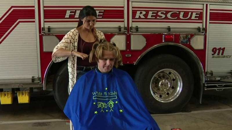 Mt. Clemens firefighter shaves off hair to help kids fighting cancer