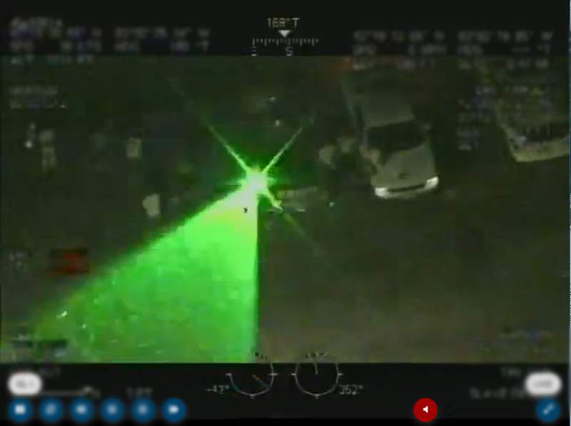 A person in Windsor was taken into custody June 4, 2020 after shining a laser pointer at a US CBP helicopter.