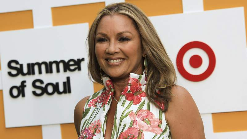 """Vanessa Williams attends a special screening of """"Summer of Soul"""" at The Richard Rodgers Amphitheater at Marcus Garvey Park on Saturday, June 19, 2021, in New York. (Photo by Jason Mendez/Invision/AP)"""