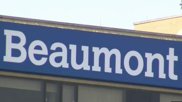 Beaumont Health sign (WDIV)