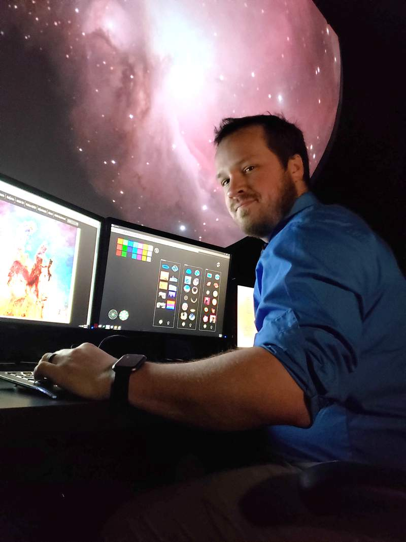 """Jeffrey """"Buddy"""" Stark joins U-M's Museum of Natural History as its new planetarium manager."""