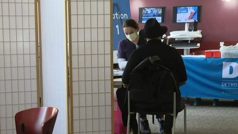 Dearborn teachers line up for COVID vaccines as CDC releases guidelines for schools
