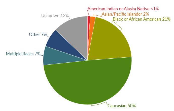 Michigan COVID-19 cases by race as of Sept. 26, 2020.