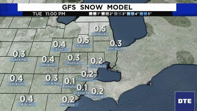 Metro Detroit weather forecast for Jan. 4, 2021 -- morning update
