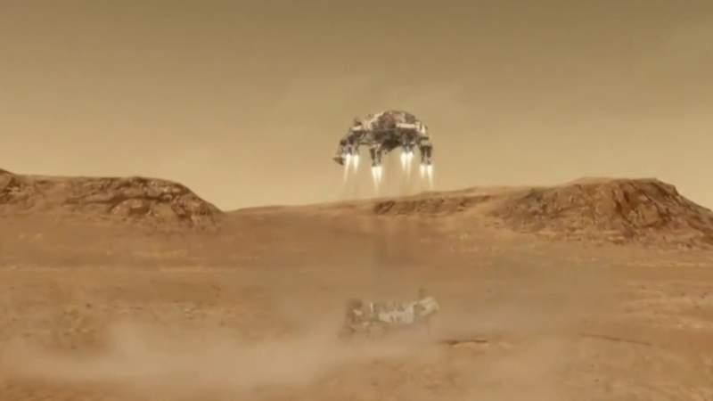 Landing NASA's perseverance rover safely on Mars