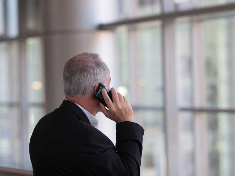 A man on a phone call.