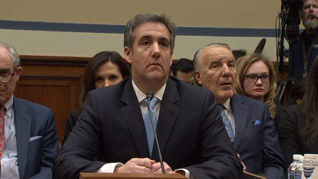 Michael Cohen goes before the House Oversight Committee on Feb. 27, 2019. (WDIV)