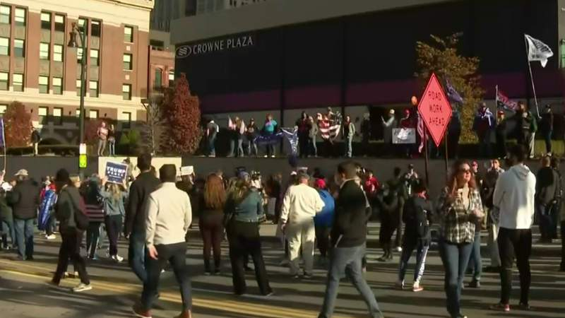 Trump supporters hold protest outside TCF Center over election results
