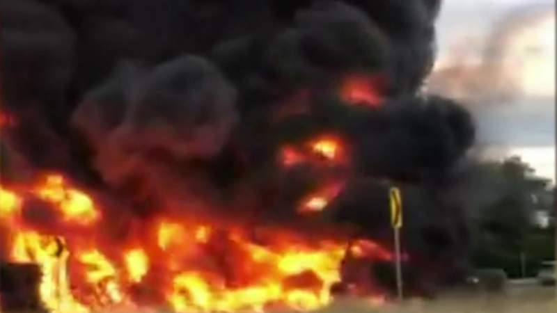 Update: Tanker explosion closes I-75 near Opdyke for week