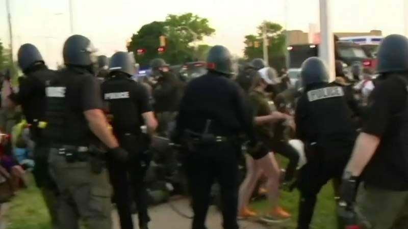 Detroit police chief, community leaders slam violent out-of-town protesters
