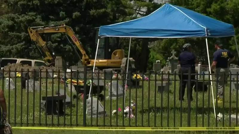 More problems uncovered as digging continues at Detroit cemetery