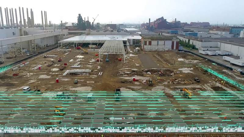 Video shows Rouge Electric Vehicle Center construction animation