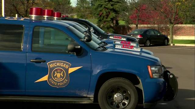 A Michigan State Police car was involved in a crash on I-696 in Southfield. (WDIV)