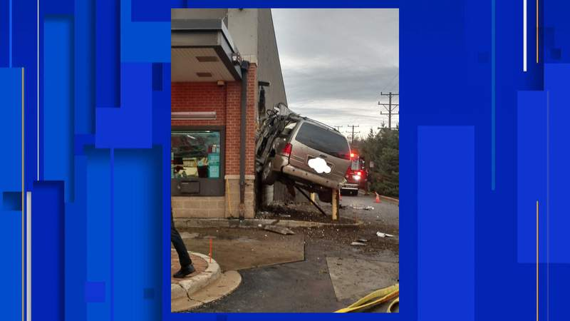 A vehicle crashed into an Ann Arbor Walgreens on Dec. 23, 2020.