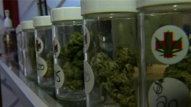 Medical marijuana in jars (WDIV)