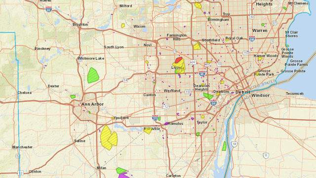 DTE Energy outage map: Severe storms knock out power for ... on ameren outage map, cms energy outage map, dte service area map, entergy outage map, duke energy outage map, dte logo, first energy outage map, seattle city light outage map, power outage map, detroit edison outage map, comcast outage map, sth 104 wisconsin map, consumers energy outage map, xcel energy outage map, at&t outage map, centurylink outage map, macomb county dte outage map, pg&e outage map, ppl outage map, my dte outage map,