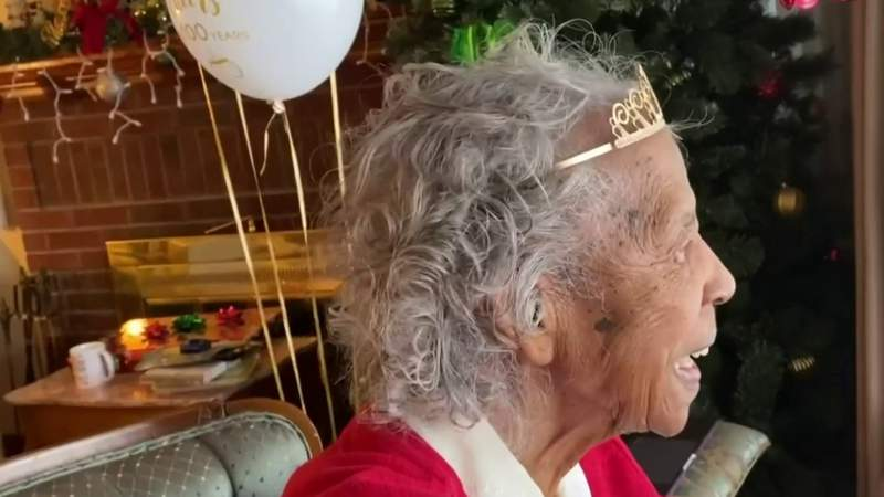 Car parade for woman's 100th birthday in southwest Detroit