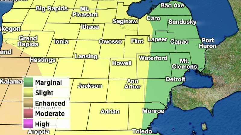 Metro Detroit weather: Monitoring severe storm threat