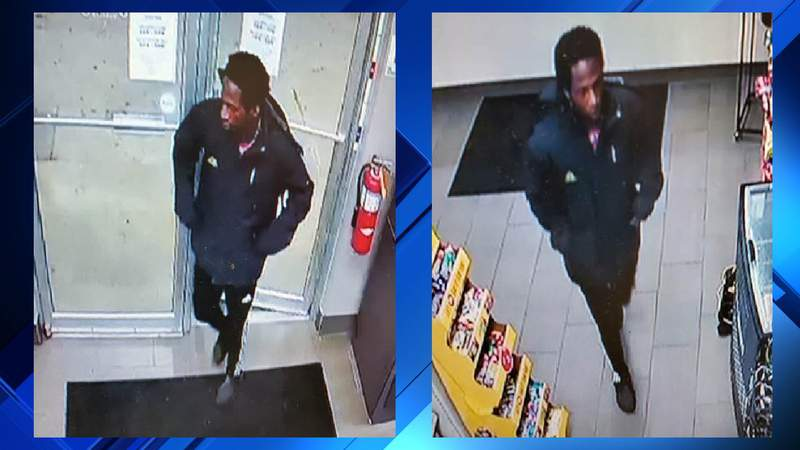 A man suspected of robbing a gas station on March 21, 2020, in Adrian.