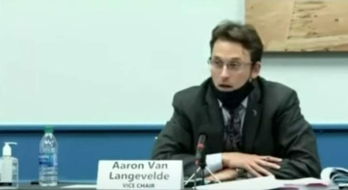 Michigan State Board of Canvassers Vice Chair Aaron Van Langevelde during the historic meeting on Nov. 23, 2020.