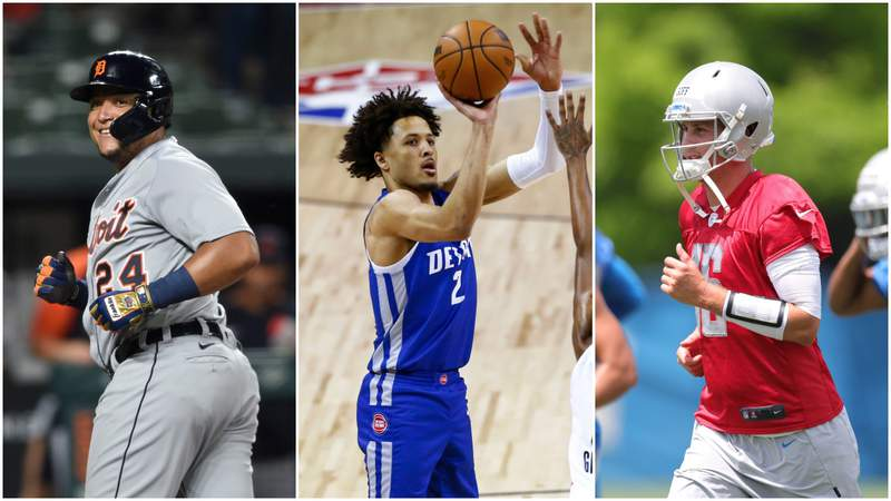 Miguel Cabrera, Cade Cunningham and Jared Goff will all be in action Friday (Aug. 13, 2021).
