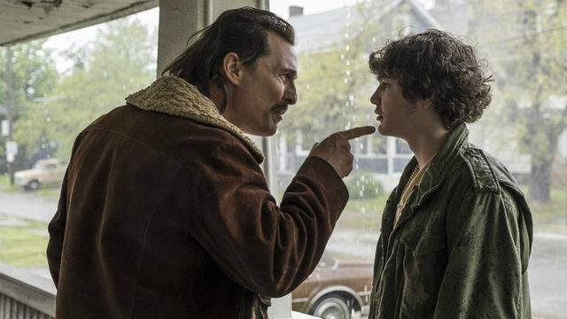 """This image released by Sony Pictures shows and Matthew McConaughey, left, and Richie Merritt in a scene from """"White Boy Rick."""" (Scott Garfield/Sony/Columbia Pictures and Studio 8 via AP)"""