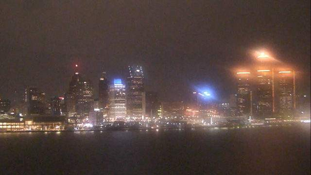 Detroit from the Windsor sky camera. Dec. 7, 2018 at 7:49 p.m.