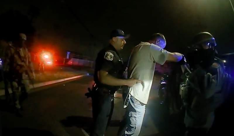River Rouge police arrest Jeffery Bailey on June 26, 2021.
